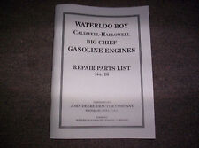 New Waterloo Gasoline Engine Co. Built Hit & Miss Gas Engine Best Parts List #16