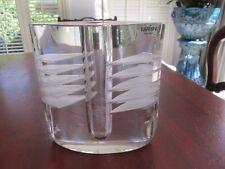 Superb Barbini Clear Glass Vase Murano Italy Very Heavy