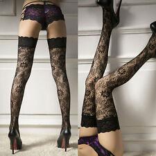 Damen Sheer Lace Top Oberschenkel-Highs Strümpfe Garter Belt Suspender Hot