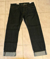 J.C Rags Alpha Men's Straight Leg Selvedge Denim Jeans Dark Rinse $139 NEW 33x34