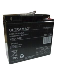 Lawn Mower GEL Battery Ultramax 12V 17AH (Replace 18AH 19AH 20AH 21AH 22AH)