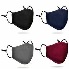 1-5Pcs 5Layer Cotton Face Mask Washable Reusable Cloth Soft Fashionable Lot
