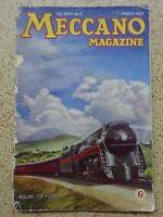 MECCANO  Magazine - March 1943 - VINTAGE ITEM / Excellent Birthday 'Date' Gift?
