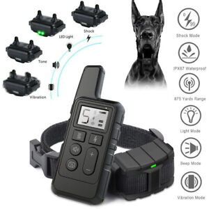 Pet Dog Training Collar Rechargeable Waterproof Electric Shock LCD Display 800m