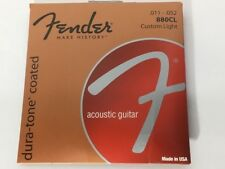 Fender Strings 880 CL 80/20 Bronze pelliculés 11-52 Acoustic Guitar Strings