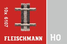 Fleischmann 6107 H0 Gerades Teilgleis, 10mm (10 Stück) ++ NEU & OVP ++