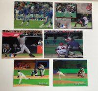 Lot of Six (6) ~ BASEBALL MLB FOOTBALL NFL MOTION SPORTS CARDS 5 X 7 & 4 X 6