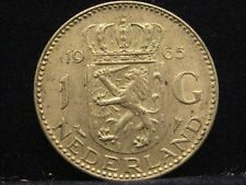 Países Bajos 1 florines, 1965 reina Juliana plata% 720 nr208
