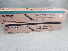 Techtronix Phaser 780 Color Printer Toner Cartridges Cyan and Black