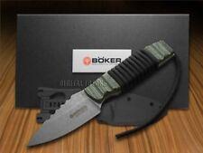Boker Tree Brand Fixed Blade Bender Knife Green Canvas Micarta 120622