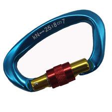 25KN Aluminum Screwgate Locking Carabiner D-Ring Hook for Climbing Caving