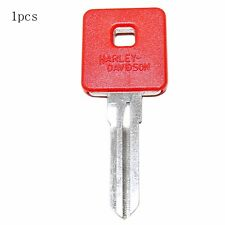 1X Motorcycle Ignition Key Blank Fit For Harley Davidson Sportster 883 1200 Red