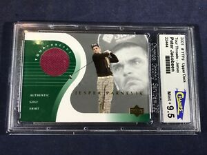 R3-99 GOLF CARD - JESPER PARNEVIK TOUR THREADS  - 2001 UPPER DECK - GRADE 9.5