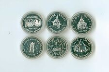 1974 TO 1979 CANADA SILVER DOLLAR LOT OF 6 DIFFERENT