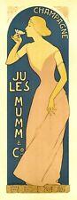 Repro Art Nouveau Style Print 'Mumm Champagne'