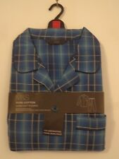 BNWT MENS M&S PURE COTTON SUPER SOFT BLUE MIX PYJAMAS SIZE XXL