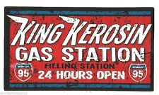 King queroseno gas station pegatina/sticker/retro/Youngtimer/us Car/rockabilly/v8