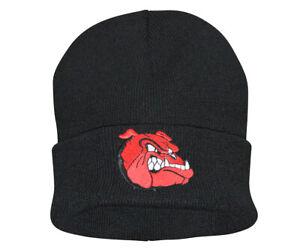 McAllister BULLDOG Dog Beanie Watch Hat Embroidered Logo Cap Mütze