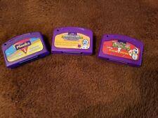 Lot of 3 Leapfrog Leap Pad & Leap Start Game Cartridges   R