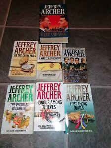 Jeffrey Archer reading books novels selection collection 7 paperback hardback