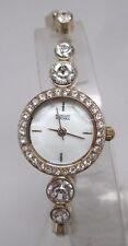 NEW Badgley Mischka BA-1206MPGB Ladies Swarovski Crystal/Gold Petite Fancy Watch