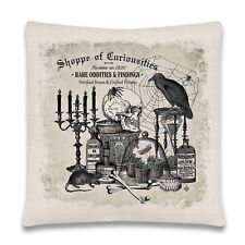Shoppe Of Curiosities Pillow Case Cover Halloween Vintage Style Home Decoration