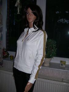 Ralph Lauren Sweatjacke Pullover Sweater edel weiss gold Grösse XS neu