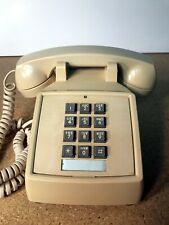 Cortelco Itt 250009-mba-20m Touchtone Push Button Desk Phone Ivory Volume Adjust