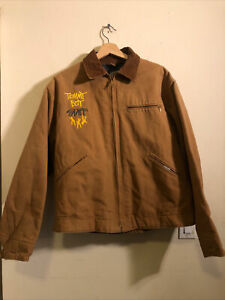 Vtg 1992 Carhartt Stussy Tommy Boy Records Staff Jacket 90's Hip Hop Rap 46 NOS