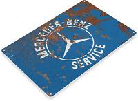 Mercedes-Benz Service Sign, Parts, Service, Auto Shop, Garage Tin Sign A492