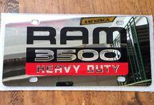 """RAM 3500 Heavy Duty"" Badge 3D Stainless Steel License Plate"