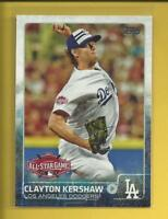Clayton Kershaw 2015 Topps Update Series All Star Game Card # US310 L A Dodgers