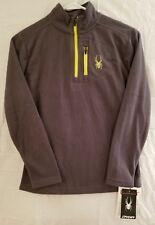 Spyder Boys Kids Fleece Long Sleeve Gray Half Zip Pullover Sweater Jacket Size M
