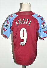 2004-05 Aston Villa FC camiseta #9 angel Hummel Jersey talla m Home Vintage