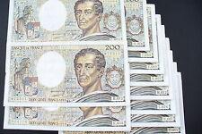 JOLI  BILLETS  200  FRS MONTESQUIEU  1989  ALPH. DIFF.!!!  (achat unitaire)