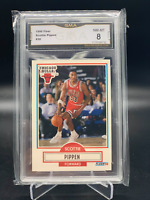 Scottie Pippen Chicago Bulls #30 1990 Fleer Graded PSA GMA 8 NM-Mint