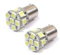 2 x 12V BA15S 13 LED White Sidelight Side Indicator Parking Light Bulb P21W 1156
