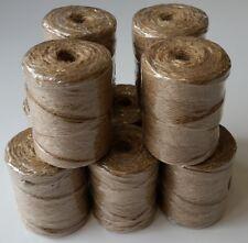 10 Stk. Bindfaden Paketschnur Schnur Packschnur 70m 65g Jute