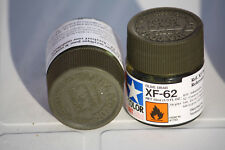 Tamiya Model Color Acrylic Paint Xf-62 Olive Drab Net 10ml 81762