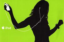 iPod Werbekarte in GRÜN  NEU  Merchandising/Werbung  Original Apple Hochglanz
