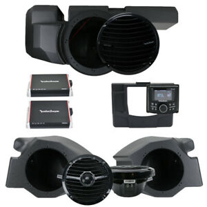 Rockford Fosgate RZR-STAGE3 Stereo, Sub & Front Speakers for Polaris RZR Models