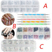 Colors Crystal Rhinestone Nail Art Glitter Sequins Tools DIY Decoration Manicure