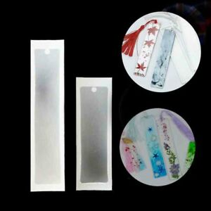 DIY Rectangle Silicone Bookmark Mould Making Epoxy Jewelry Resin Mold Craft S+M
