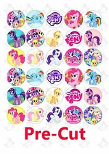 30 My little Pony Edible Cupcake edible image wafer/rice paper toppers PRE CUT