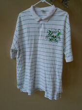 Ed Hardy Christian Audigier Love Kills Slowly White Green Stripe Polo Golf Shirt