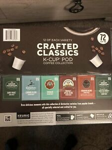Crafted Classics Coffee Keurig K-Cup Pod Variety Pack 72-count - Med + Dark
