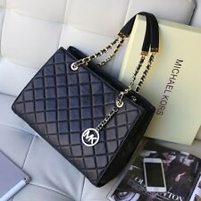 💖 WOW! 💖 100% BNWT Michael Kors Black SUSANNAH Quilted Lamb Leather Tote Bag