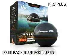 Deeper Smart Sonar Pro+ WIFI+GPS - FREE PACK Blue Fox Lures SAME DAY SHIPPING