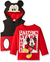 Mickey Mouse Boys Costume Puffer Vest /& Top Set Size 12M 18M 24M 2T 3T 4T