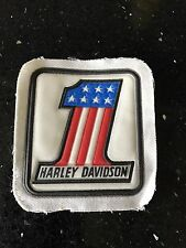 Rare HARLEY DAVIDSON VINTAGE 70s New Old Stock PATCH BADGE No 1 Amf Ironhead